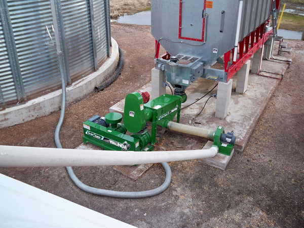 Grain Blower System : Grain cleaners products walinga